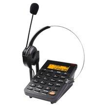 Telefon przewodowy z zestawem słuchawkowym i dialpadem, identyfikatorem dzwoniącego, nagrywaniem komputera, podświetleniem, regulowana głośność dla biura call center