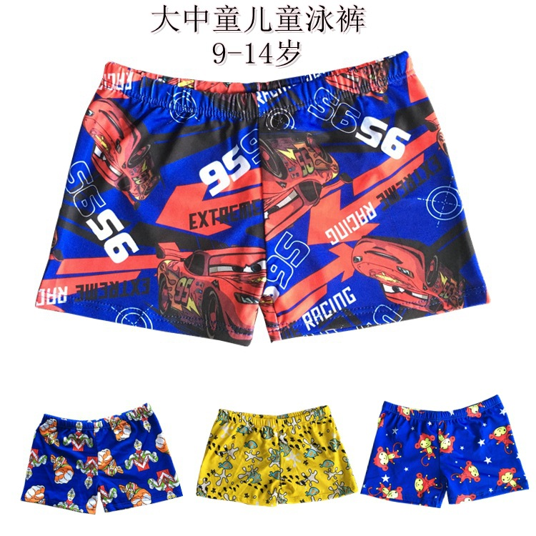 Large And Medium-sized Child Swimming Trunks New Style Children Boxer Swimming Trunks Variety Floral Swimming Trunks Children Au