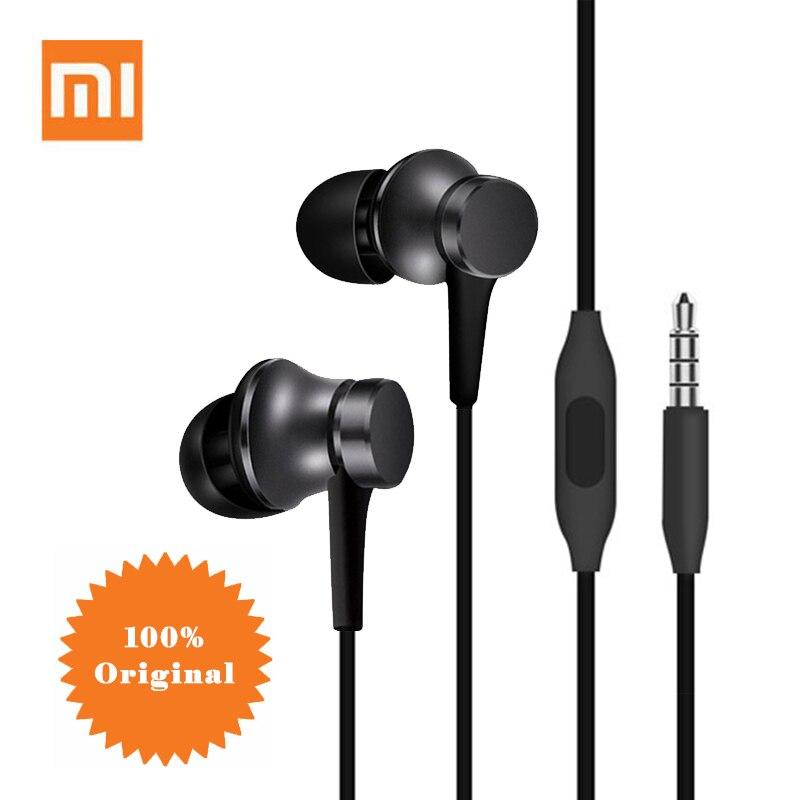 Original xiaomi fone de ouvido metade in-ear fone de ouvido 3.5mm controle de fio para mi a3 cc9 cc9se redmi nota 9 8 7 6a 5a 4x 5x samsung huawei
