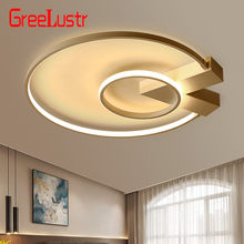 Modern LED Acrylic Ceiling Lights Creative Simple Circle Bedroom Study Kitchen Decor Ceiling Lamp(China)