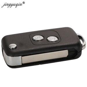 Image 3 - Jingyuqin carcasa de llave de coche con tapa modificada para Citroen C1, C2, C3, Xsara Picasso, Peugeot 206, 306, 307, 407, 406, 2 botones, 20 piezas