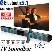 40W Wireless Bluetooth 5.0 Soundbar Speaker Hifi 3D Surround Stereo  Support RAC TV Home Theater Sound bar with Remote Control
