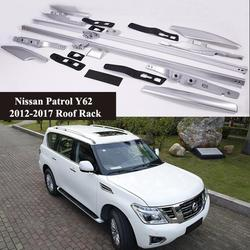 Dla Nissan Patrol Y62 2012-2017 bagażnik dachowy bagaż bagaż Bar Carrier bary top stojaki szyny pudełka OEM stop aluminium