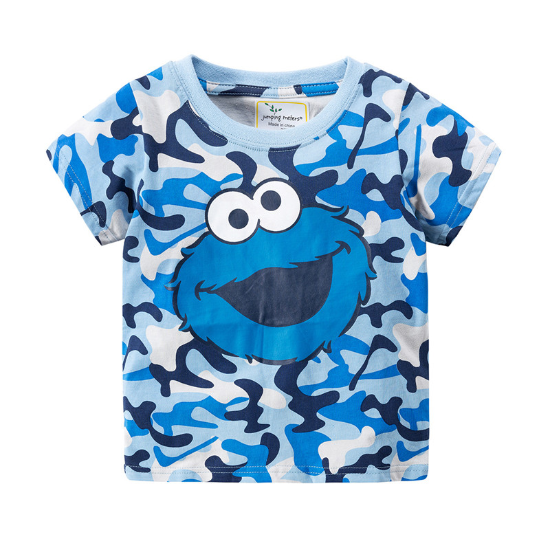 Hc2c9f62c74a646c29e006bc95c6f43d3I jumping meters Baby Boys Cartoon T shirt Kids New Tees Short Sleeve Summer Clothes With Printed Dinosaurs Children T shirts