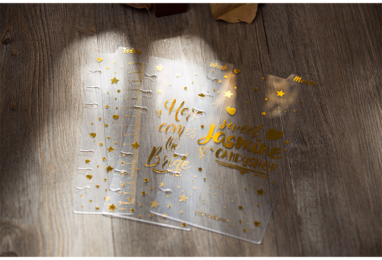 A5 A6 6Holes Loose Leaf Notebook Binder Index Dividers 3pcs/set  Today Ruler Planner Notepad DIY Accessory