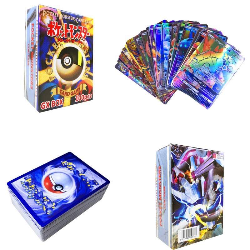 100pcs GX EX MEGA Shining Carte Cards Game Battle Carte No Repeat Pikachu Card Game For Children's Chrismas Birthday Gift