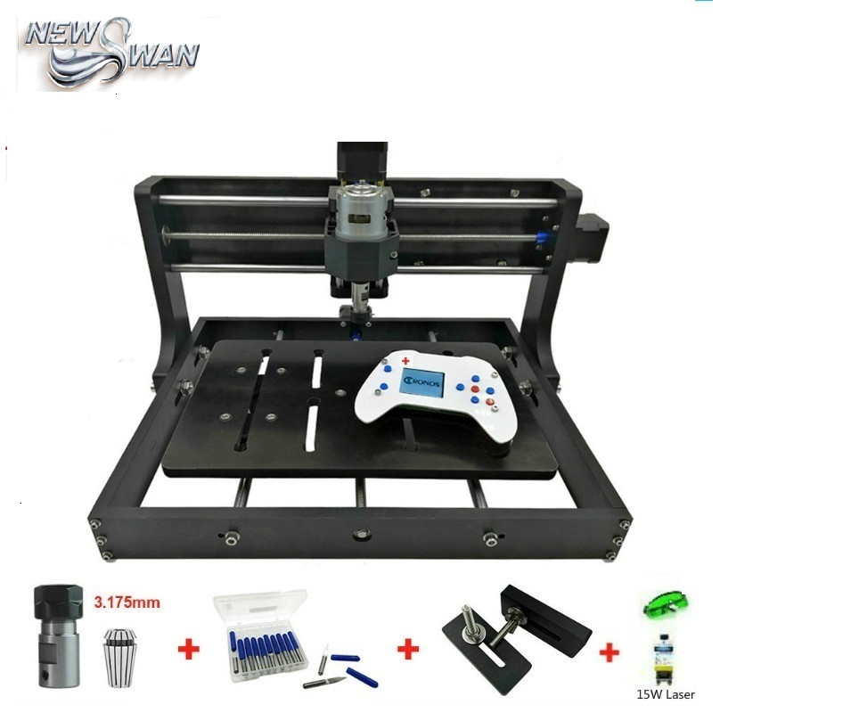 Free Shipping CNC 3020 Mini Desktop Laser Engraver GRBL DIY Wood CNC3020 Router Engraving Machine For Wood Acrylic PVC PCB Metal