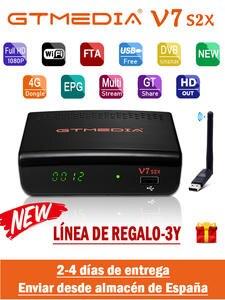 Receptor TV Digital-Decoder Gtmedia V7s Usb-Wifi DVB-S2 H.265 Hd 1080P S2X No-App Included