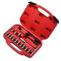 17 pçs injector cleaner removedor de carbono limpo assento cortador ferramenta corte conjunto|Pedais| |  -
