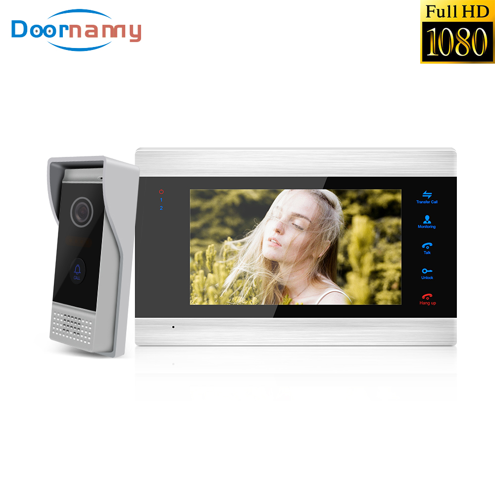 Doornanny 1080P Video Intercom For Home Apartment Video Doorbell Entry Phone Monitor Door Viewer Video Call Intercom Home