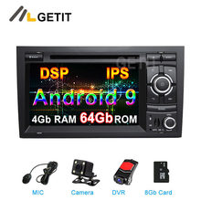 Dsp 64g android 9.0 reprodutor de dvd do carro multimídia rádio gps para audi a4 s4 rs4 exeo assento com wifi bt estéreo(China)
