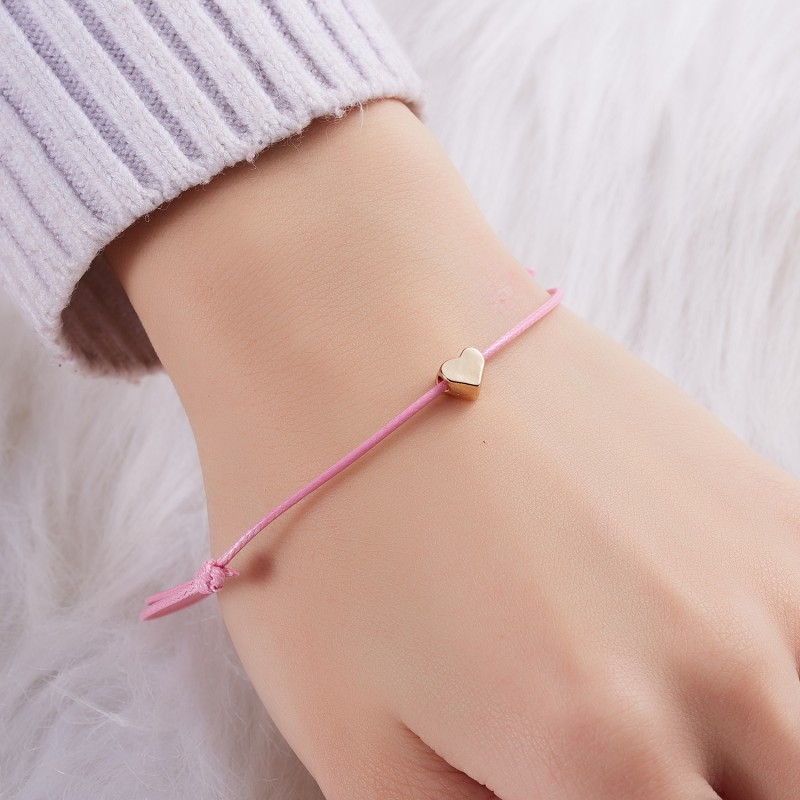 HIYONG Fashion Woven Adjustable Bracelet With Infinity Love Gold Crown Star Charm for Girls Jewelry Drop Shipping
