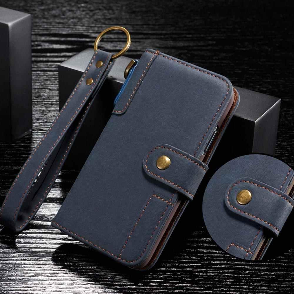 Floveme Bao Da Flip Wallet Dành Cho Samsung A50 A20 A30 A40 S9 S8 A20E S7 S6 Retro Lưng Dành Cho samsung Note 10 8 9 Plus Ốp Lưng