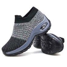 Moda feminina sapatos de caminhada super macio altura aumentar sapatos de viagem ao ar livre cmfortable leve respirável