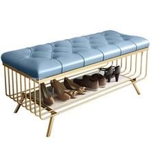 Современная простая боковая скамейка для кровати, креативная кожаная скамейка для сменной обуви, табурет, дверной проем, магазин одежды, примерочная комната, диван, табурет для ног