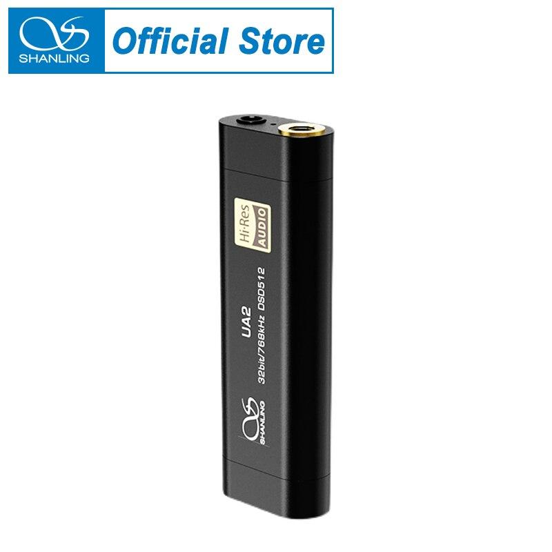 Портативный USB-кабель Shanling UA2 DAC усилитель звука Тип C на выход 2,5/3,5 мм совместимый с iOS Android PCM768 DSD512