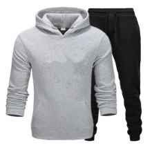 Комплекты для бега, мужские спортивные костюмы, комплект спортивной одежды из полиэстера для фитнеса, тренировок, спортзала, велоспорта, спортивный костюм с карманами на молнии, костюм для бега