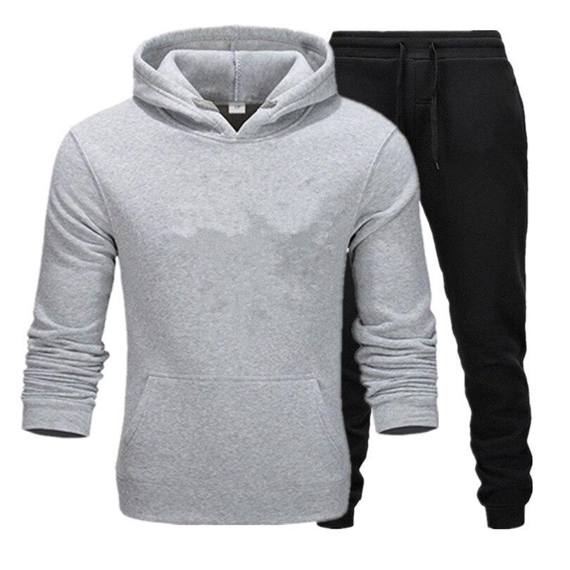 2019 ריצה סטי גברים ספורט חליפות ספורט סט פוליאסטר כושר אימון כושר רכיבה על אופניים אימונית Zip כיס חליפת ריצה