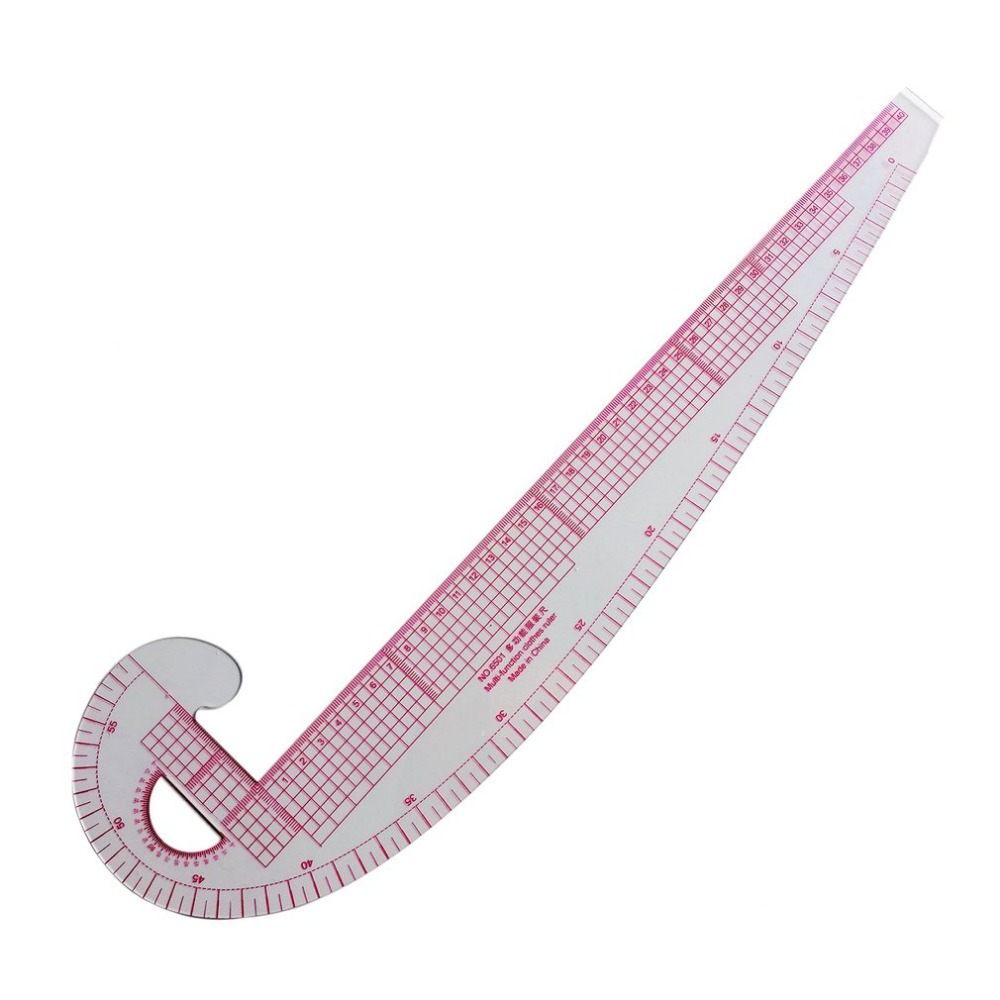 Plastic French Curve Metric Sewing Ruler Measure Tailor Ruler 360 Degree Bend Set Grading Curve Ruler Tools For Clothing Making