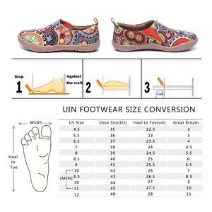 Image 5 - UIN Blossom Design Красочный Арт Окрашенный Холст Мокасины для Женщин Широкие Ноги Комфорт Обувь Дамы Открытый Мягкие Легкие Кроссовки