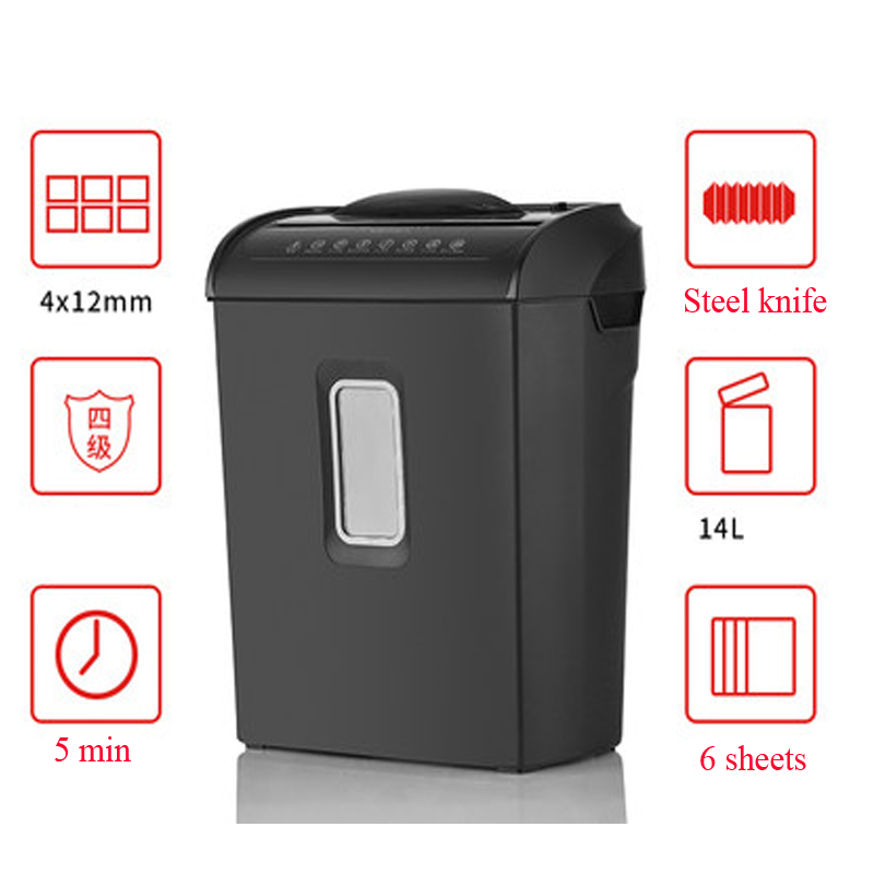 AS608CM electric paper shredder /high security desktop office shredder / consumer and commercial mini small shredder