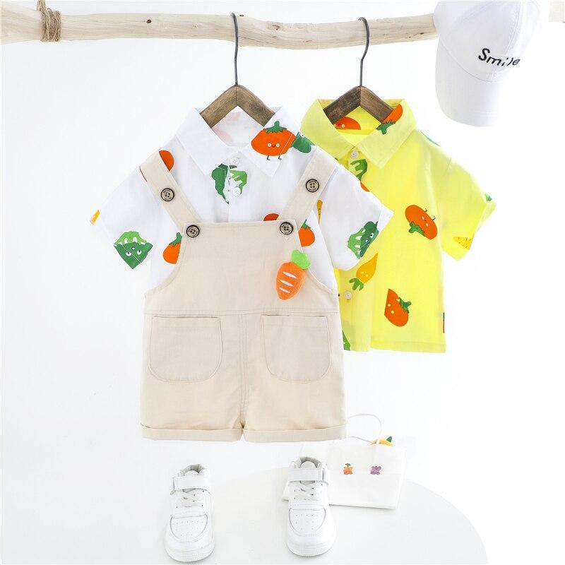 t camisa bib shorts infantil crianças férias roupas