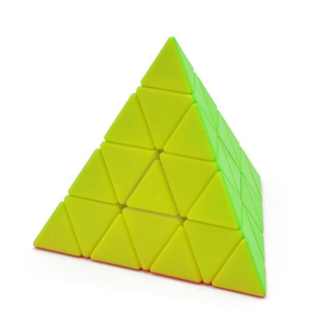 4x4x4 Pyramid Cube Black/Stickerless Magic Cube  95*95*95mm Pyramid Cube 4x4 Puzzle Pyramid Cube Special Toys For Children 3