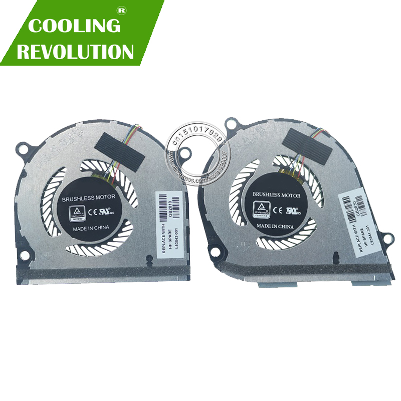 Laptop CPU GPU Cooling Fan DC5V 0.5A 4Pin For HP ENVY X360 15-DS 15-DR L53542-001 L53541-001