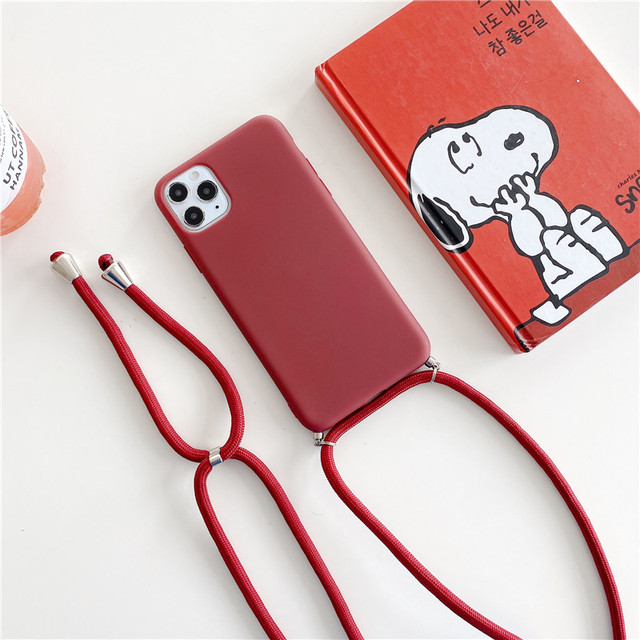 Crossbody Necklace strap Lanyard Cord silicone phone case for iphone 12 MiNi 12 Pro Max 11 Pro Max X XR XS Max 6S 7 8 plus cover 4