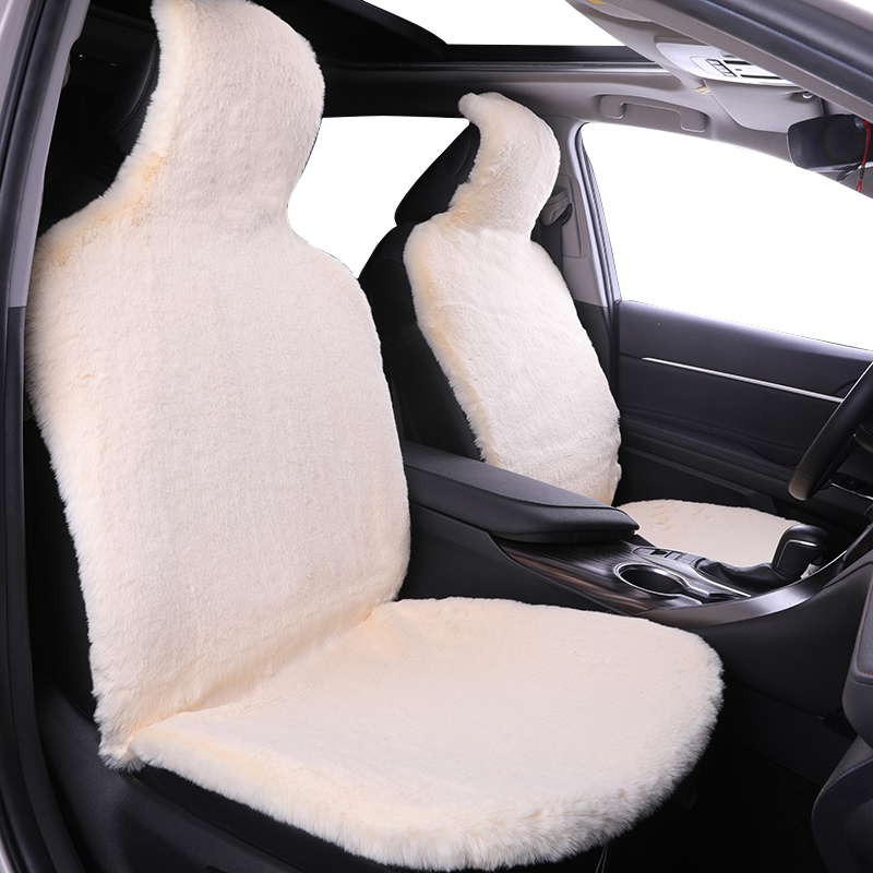 Winter Warm Car Seat Cover High Low Wool Luxury Car Seat Covers (White) Back Part Fur Car Interior Accessories Universal Fit