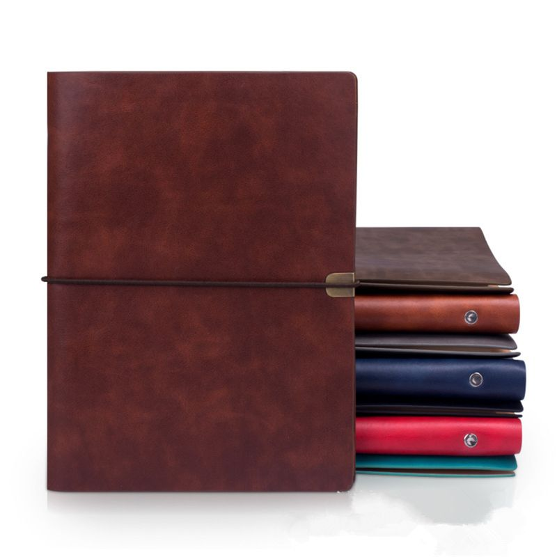 Pu Leather Note Book Cover Spiral <font><b>Notebook</b></font> A5 Planner Organizer <font><b>Notebook</b></font> Travel Journal Diary 6 <font><b>Ring</b></font> <font><b>Binder</b></font> Stationery PXPA image