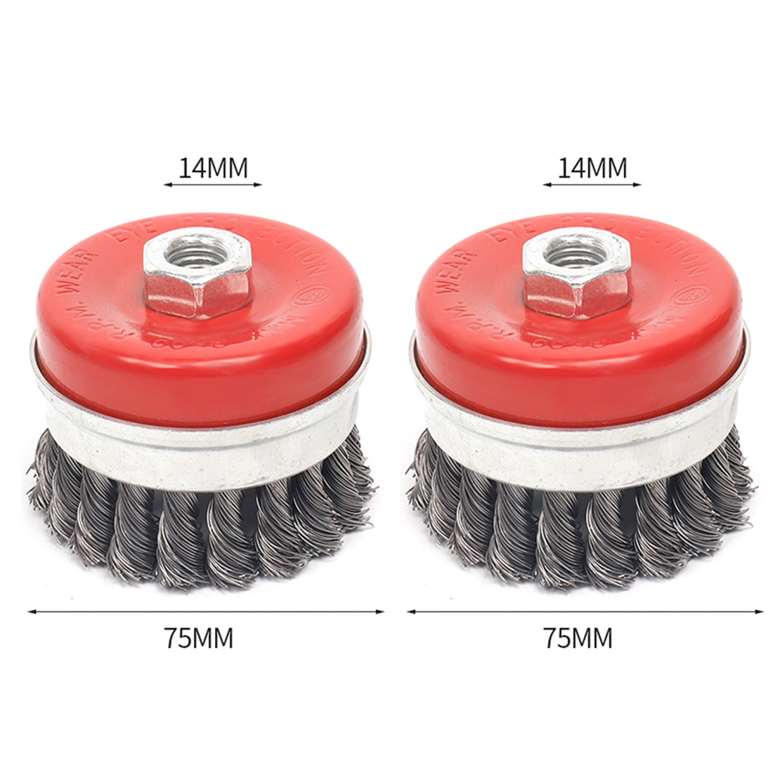 "Carbon steel Wire Wheel Brush Power Tools Supplies 2pcs 4 1/2"" angle grinders