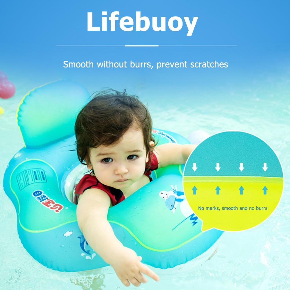 Lovely Kids Float Swim Pool Accessories Cartoon Wear Resistant Baby Swimming Rings Pool Air Bag Anti-rollover Float