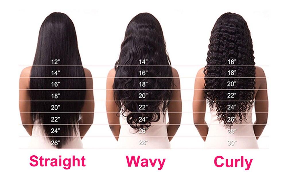 Megalook peruca de cabelo humano de ondas