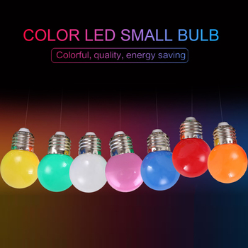 LED Bulb 3W Decorative Lighting Energy-saving Lamp Screw Color Small Bulb LED Colorful Lamp 220V LED Bulb Colorful Bulb LED Lamp image