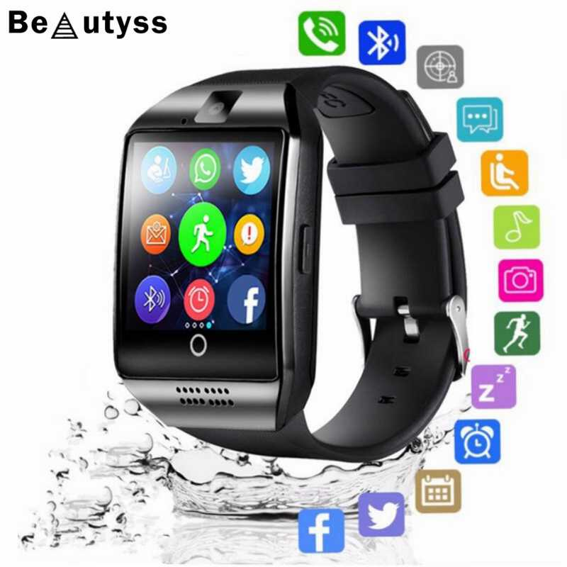 Beautyss Smart Watch men Q18 With Camera Facebook Whatsapp Twitter Sync SMS Smartwatch Support SIM TF Card For IOS Android