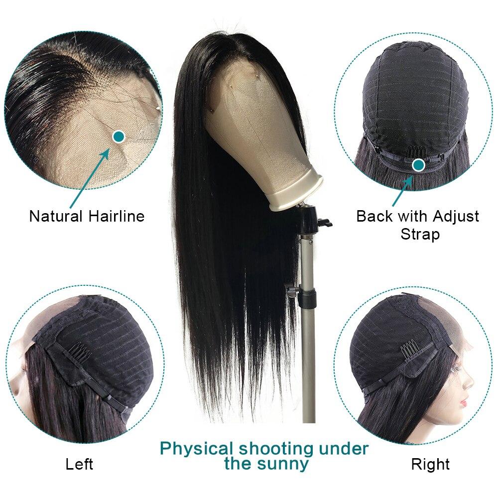 100% peruca de cabelo humano para preto