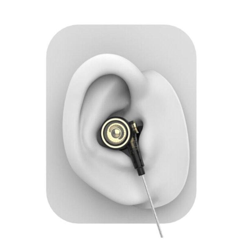 UiiSii BA T9 fones de ouvido Intra auricular HI RES 2BA + 1DD 6 Tecnologia de Acionamento Híbrido HiFi fone de ouvido Estéreo para iOS e Android xiaomi Telefones - 5