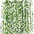 12 stücke 2M Ivy grün Gefälschte Blätter Garland Pflanzen Vine Laub Home Decor Kunststoff Rattan string Wand Decor Künstliche pflanzen