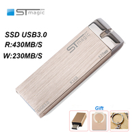 STmagic SSD USB3.0 64/128 Portable Solid State Flash Drive PC External 430MB/S Metal USB Disk pen drive for laptop TV projector