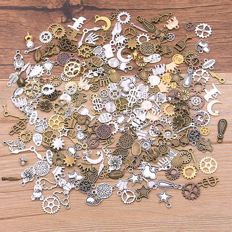 Charm Gears Diy-Accessories Mechanical-Steampunk Animal-Plant Random-Alloy Heart-Star