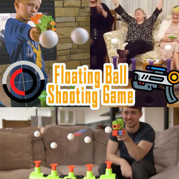 Floating Ball Shooting Game Gun Shot Toy Electric Suspension Bullet Target Family Party Toy Shooting Game Air Shot Hovering Ball цена 2017
