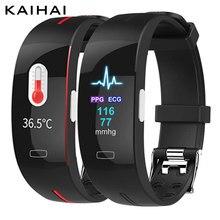 Kaihai termômetro ppg ecg hrv bpm taxa de respiração relógio pulseira inteligente medição da pressão arterial faixa de pulso atividade fitness faixa