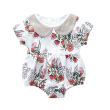 CYSINCOS 2020 Summer New Newborn Baby Girls Kids Short Sleeve Romper Outfits Toddler Playsuit Infant Jumpsuit Floral Clothes(China)