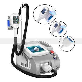 Máquina grasa para eliminar edemas congelados para uso doméstico y de salón con 3 asas