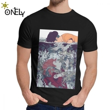 Ponyo On The Cliff By Sea Miyazaki Hayao Tee Round Neck Graphic Print Man Organic Cotton Big Size Homme Shirt