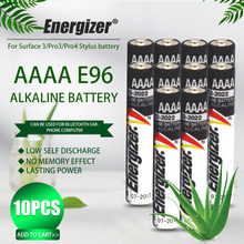 10 sztuk Energizer 1.5V AAAA Bateria alkaliczna LR61 AM6 sucha Bateria E96 LR8D425 MN2500 MX2500 4A dla Stylus Laser z Bluetooth Pen zabawki