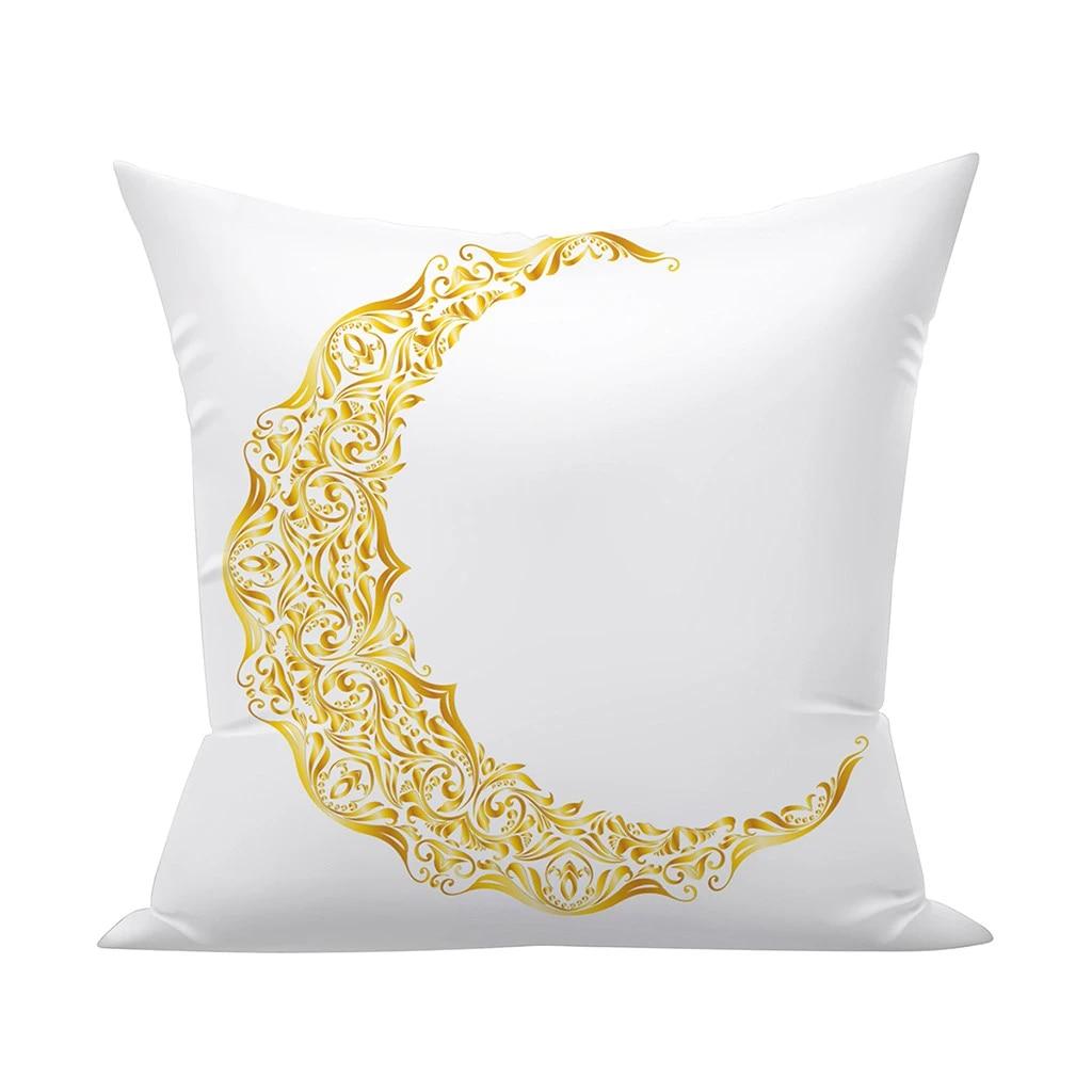eid mubarak pillow cases moon star print satin pillowcase for hair pillow covers room decoration teenager aesthetic vintage