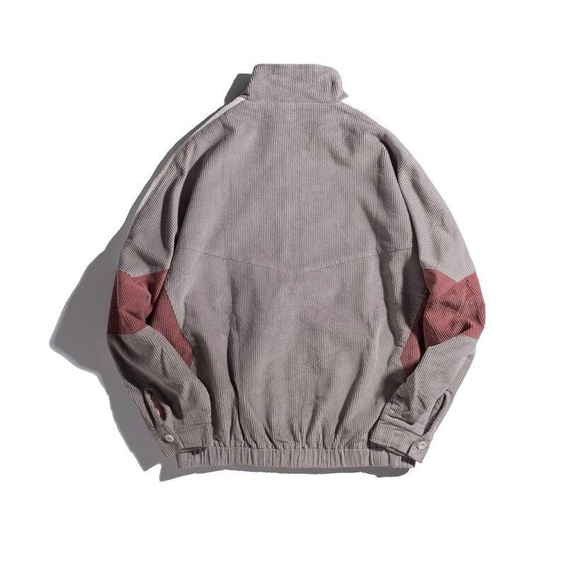Осенняя новая мужская куртка, модная, потертая, одноцветная, повседневная, рабочая, куртка, пальто, Мужская Уличная, дикая, свободная, куртка ... - 2