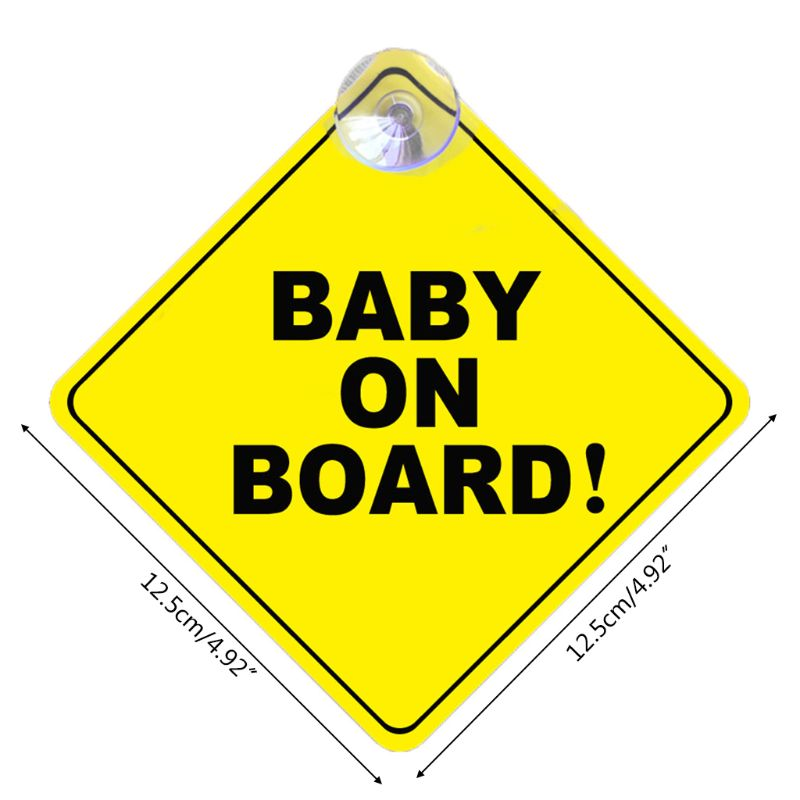 BABY ON BOARD Stroller Safety Car Window Sticker Yellow Reflective Warning Sign AXYF